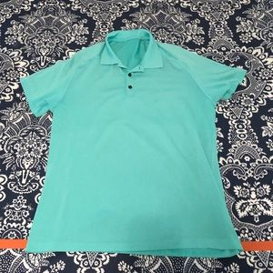Lululemon Metal Vent Tech Polo Shirt Teal